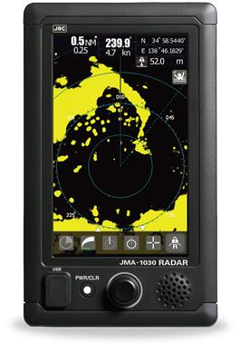 JMA-1030 radar series is JRC touch screen radar
